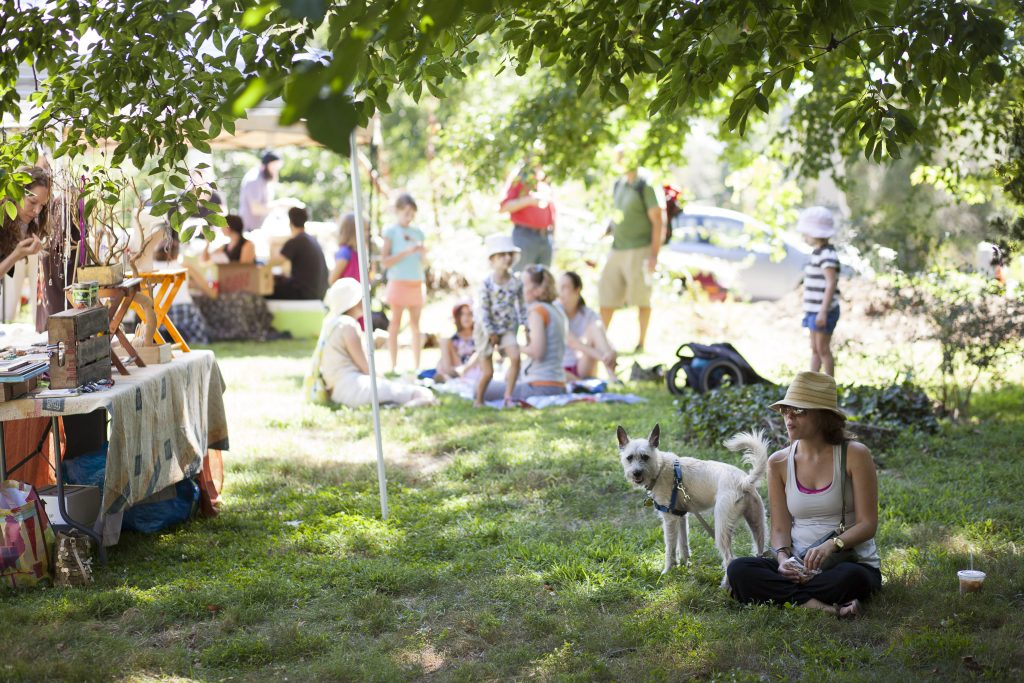 A summer festival at The Woodlands. Photo credit: Ryan Collerd